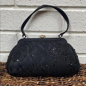 FRANCHI black evening bag/clutch beaded